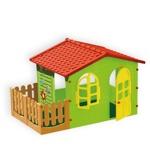 Игровой детский домик с забором садовый Mochtoys 10498