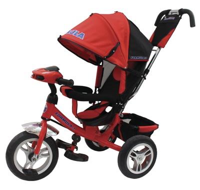 Трехколесный велосипед TRIKE Formula 3 FA3 New цвет красный с фарой