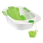 Детская ванна с анатомической горкой Happy Baby Comfort цвет green