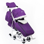 Детские санки-коляска Kristy Pikate Снеговик цвет фиолетовый