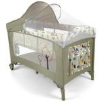 Детский манеж-кроватка Milly Mally Mirage Deluxe цвет grey bird