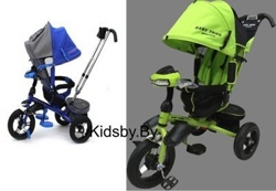Детский трехколесный велосипед-коляска Baby Trike TL4 Premium цвет зеленый